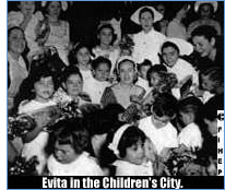 Evita in the Children's City.