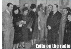 Evita on the radio