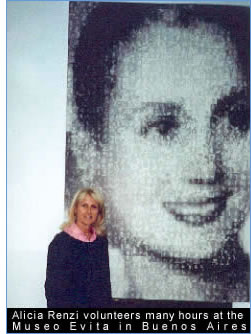 Alicia Renzi at the Museo Evita in Buenos Aires