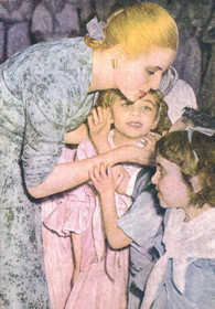 Evita Perón with children